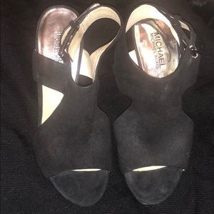 Michael Kors wedge suede sandals